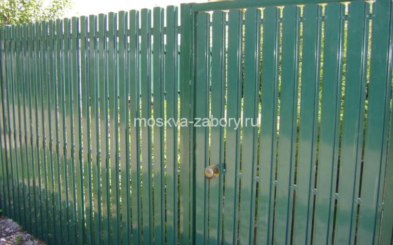 забор из евроштакетника калитка