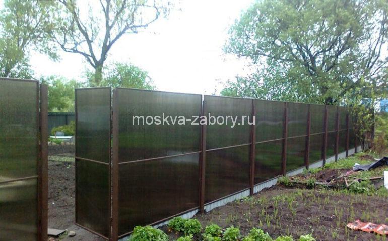 изготовление заборов из поликарбоната в Москве