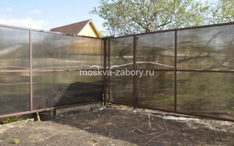 забор из поликарбоната в Москве