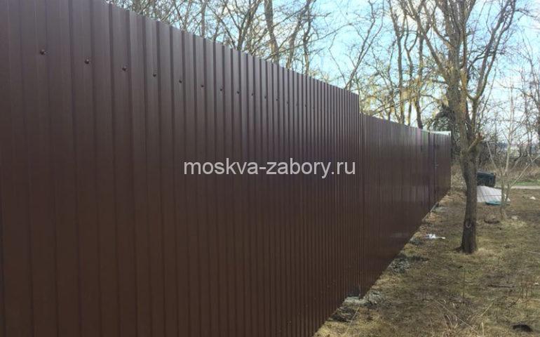 забор из профлиста в Москве
